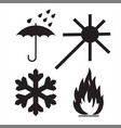 commodity conventional signs vector image