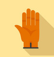 construction glove icon flat style vector image