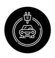electrics cars black icon sign on isolated vector image vector image