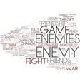 enemy word cloud concept vector image vector image