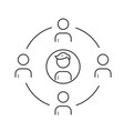 family circle line icon vector image vector image