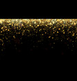 festive background with gold glitter vector image