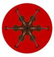 fiddle mandala pattern vector image vector image