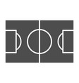 football field solid icon soccer field vector image