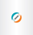 football rugby icon logo vector image vector image
