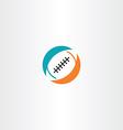 football rugicon logo vector image vector image