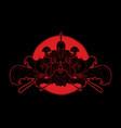 group spartan warriors roman helmet vector image vector image