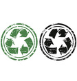grunge recycling stamp vector image