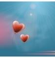 heart balloons in sky vector image