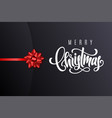 holiday gift card with lettering merry christmas vector image