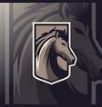 horse mascot esport logo vector image vector image