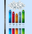 infograph brochure template with a lot of choices vector image vector image