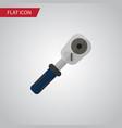 isolated spherical joint flat icon ratchet vector image vector image