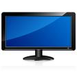 LCD television monitor vector image vector image