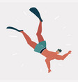 male diver on a white background vector image vector image