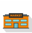Market icon flat style vector image vector image