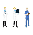 Medical Staff Man Full Body Caucasian Color vector image vector image