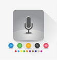 microphone icon sign symbol app in gray square vector image vector image