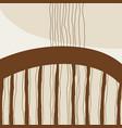 minimalist wall art vector image vector image