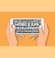 mobile app development poster banner template vector image