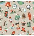 Modern flat design pattern of camping and hiking vector image vector image