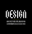 modern style font vector image vector image