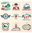 Mountain Expeditions Colorful Emblems vector image vector image