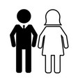 people pictogram man and woman vector image vector image