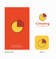 pie chart company logo app icon and splash page vector image vector image