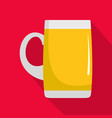 pint of beer icon flat style vector image vector image