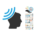 Radio Reception Mind Icon With 2017 Year Bonus vector image vector image