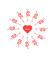 red heart with arrows around vector image vector image