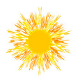 scorching hot sun with multiple rays isolated vector image vector image