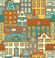 seamless pattern of buildings vector image