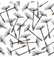 seamless pattern with flying dandelion seeds or vector image