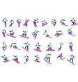 set cartoon snowboarder vector image vector image