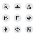 Set of 9 editable team icons includes symbols