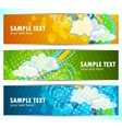 set of abstract banners vector image vector image