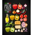 Set of pizza ingredients vector image vector image