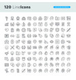 set of premium concept icons vector image vector image