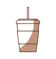 shadow disposable coffee cup cartoon vector image