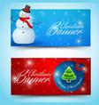 shiny christmas horizontal banners vector image vector image