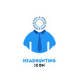 simple business icon of headhunting in blue and vector image