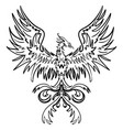 sketch drawing of phoenix vector image vector image