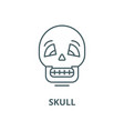 skull line icon linear concept outline vector image vector image