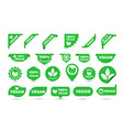stickers icons for vegan tags labels vector image vector image