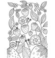 summer doodle coloring book page antistress vector image vector image