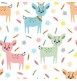 tribal seamless pattern with cute hand drawn vector image