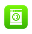 washing machine icon digital green vector image