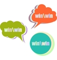 win word set of stickers labels tags Template vector image vector image